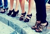 shoes,peep toe heels,slingback heels,high heels,platform high heels,strappy black heels
