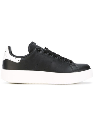 women sneakers leather black shoes