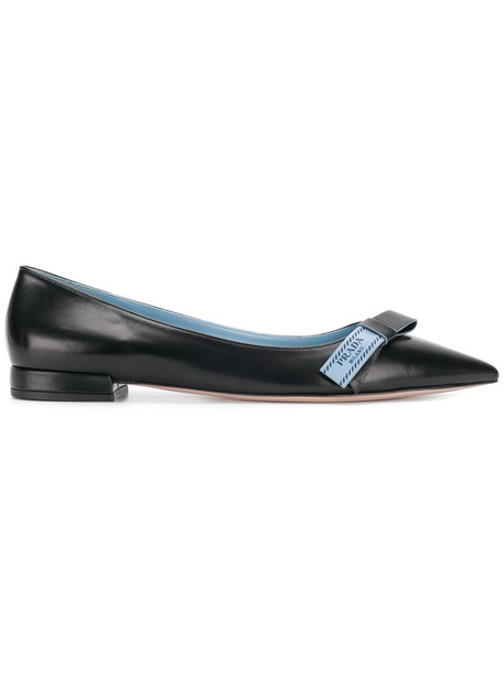 Prada women shoes leather black