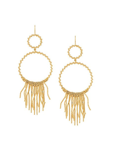 AURELIE BIDERMANN women earrings hoop earrings grey metallic jewels