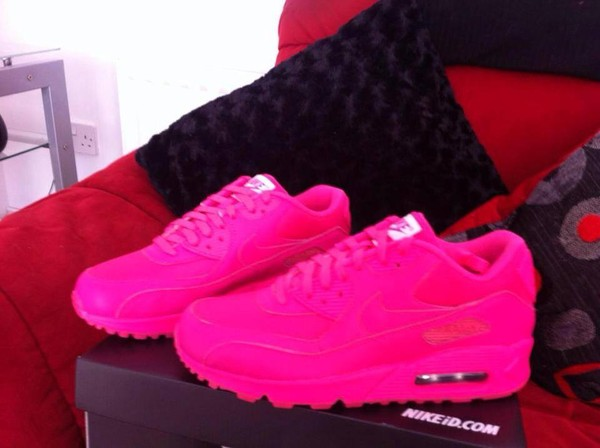 shoes nike running shoes neon nike pink sneakers air max nike air max 90