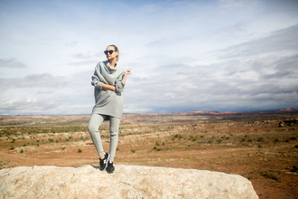 late afternoon blogger sweater pants shoes sunglasses jewels