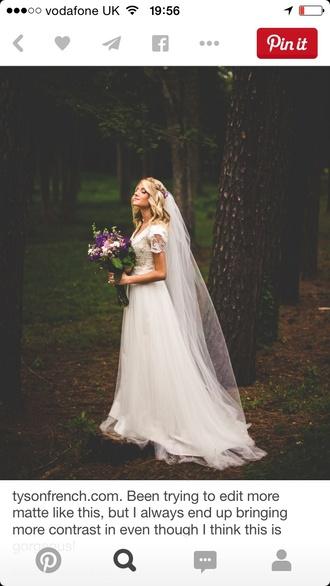 dress wedding dress lace dress ivory dress sleeves boho dress