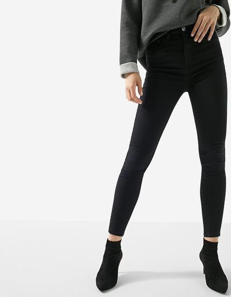 Stradivarius high black pants