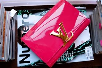 bag cherry purse wallet pink luis vuitton