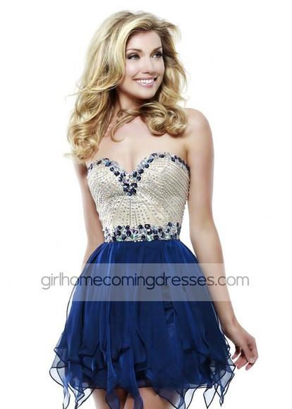 ruffles a-line sweetheart chiffon beading homecoming homecoming dress homecoming dresses fashion girl women's fashion charming flowing
