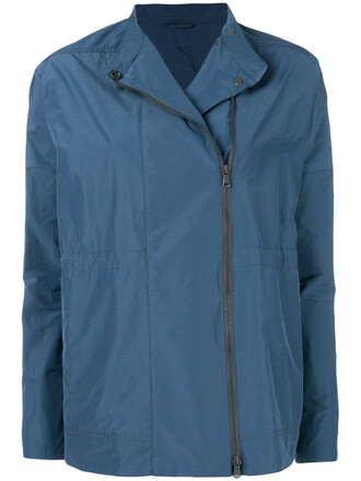 jacket zip blue
