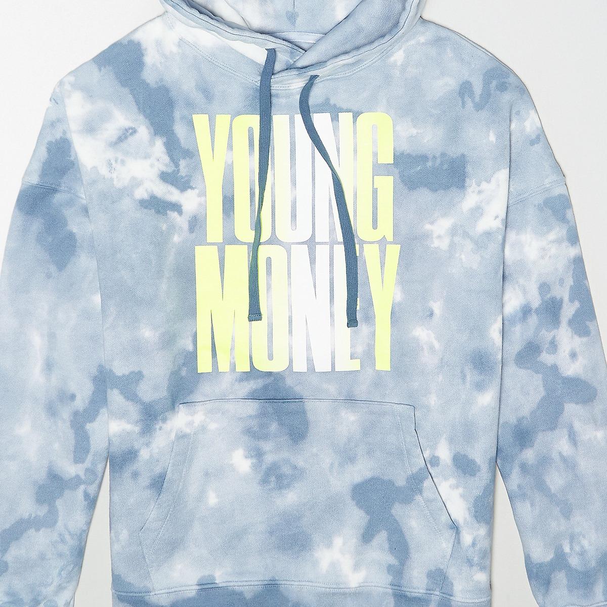 AEO X Young Money Drop-Shoulder Tie-Dye Hoodie
