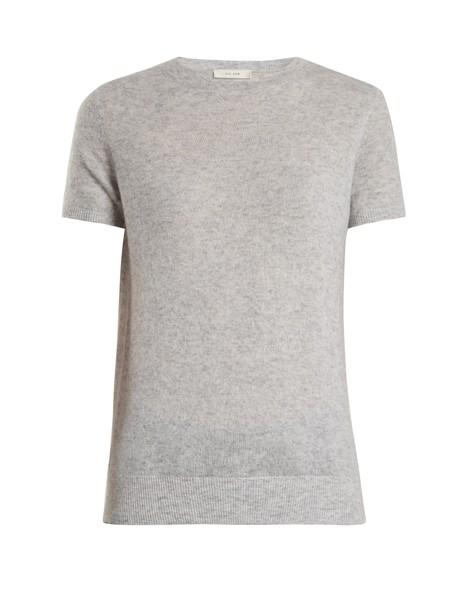 The Row sweater silk light grey