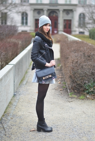 vogue haus blogger satchel bag leather jacket