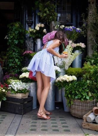 light blue short open back summer dress dress sleeveless zanita blogger