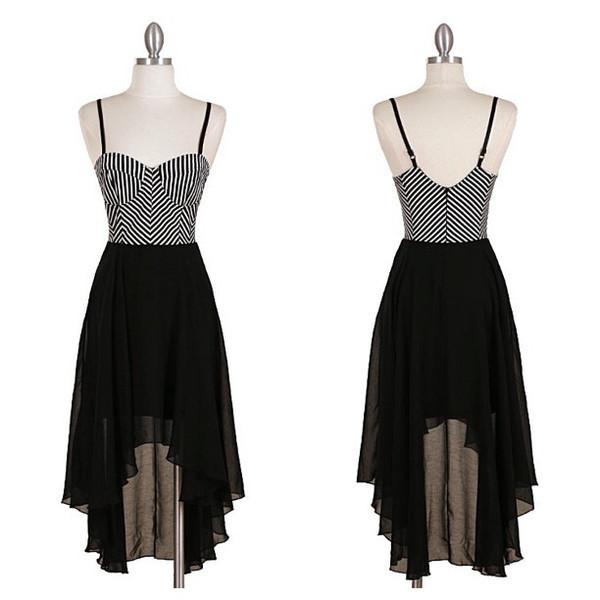 black and white dress sheer hi lo dress bustier dress