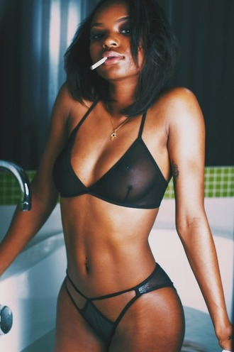 mesh bikini black bikini trill dope instagram baddies sexy hot black hottie hairstyles black girls killin it nipples full lips bikini bottoms bikini top american apparel sexy bikini bra