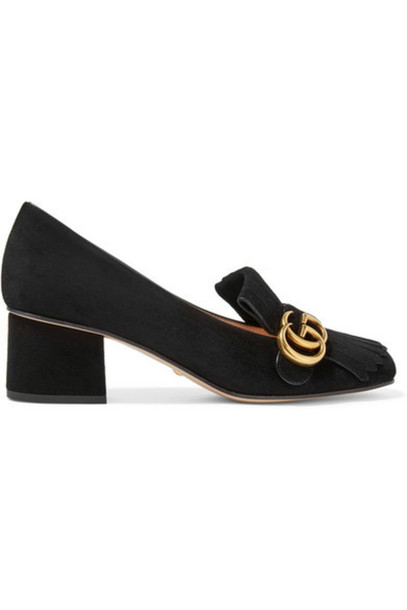 gucci suede pumps pumps suede black shoes