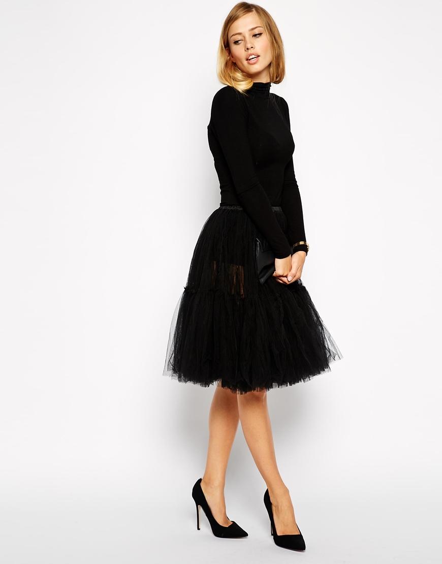Asos full midi tulle skirt at asos.com