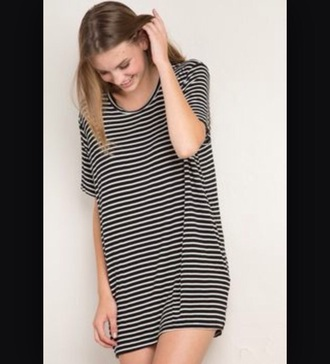 dress stripes t-shirt baggy casual
