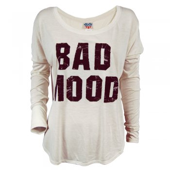 Junk Food Ladies Bad Mood Long Sleeve T Shirt Sugar