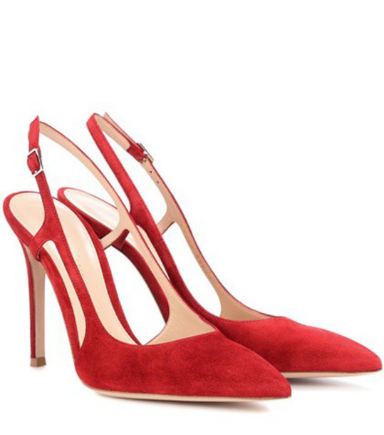 Gianvito Rossi pumps suede red shoes