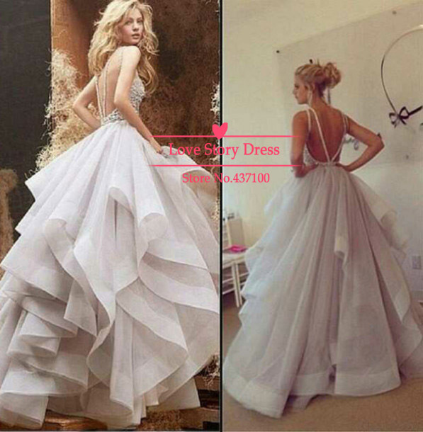 Wedding Dresses  Aliexpress : Aliexpress com buy vestidos de novia alluring ball gown wedding dress