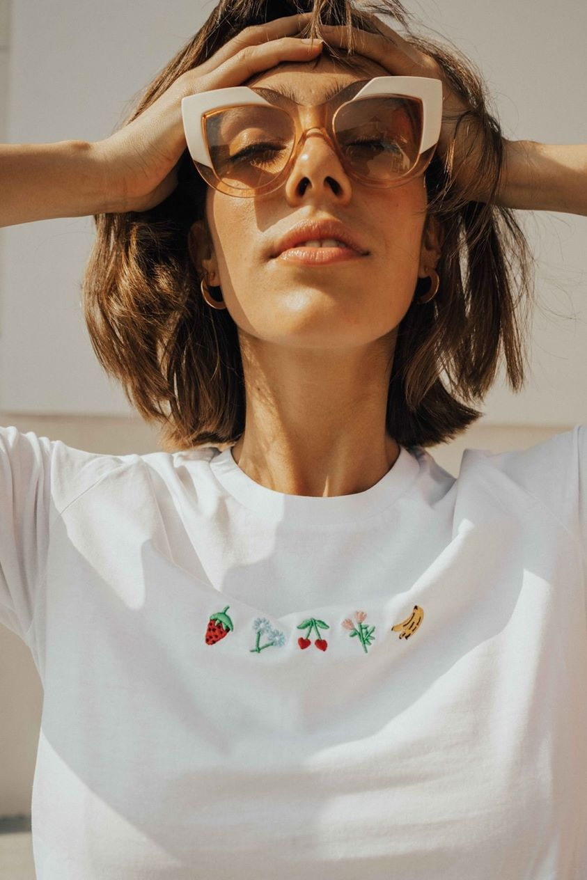 O&F Fruit and Flowers Tee - White