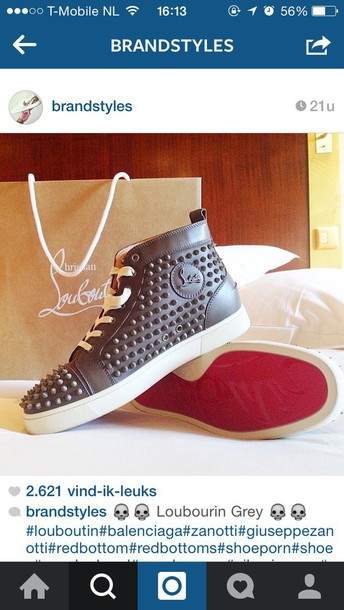 shoes gn louboutin love grey