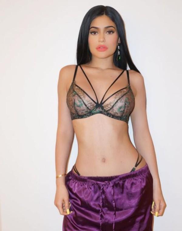underwear bra bralette lace bra lace lingerie kylie jenner instagram