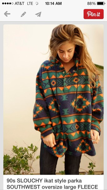 jacket clothes oversized jacket patterned sweater sweater tribal pattern pattern comfy oversized colorful boho geometric hoodie top sweatshirt aztec fleece lining fall sweater summer top style tribal pattern trendy vintage printed sweater fleece jackets green orange forest green
