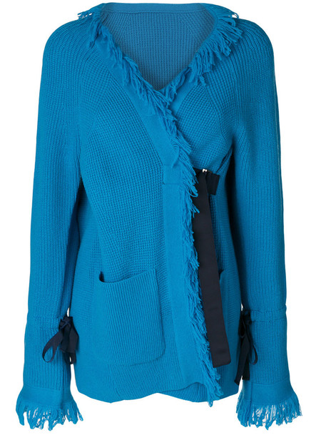 Sacai cardigan cardigan women blue wool sweater