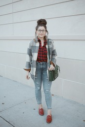 noelles favorite things,blogger,shirt,shoes,bag,jeans,sweater,red shirt,shoulder bag,loafers,winter outfits