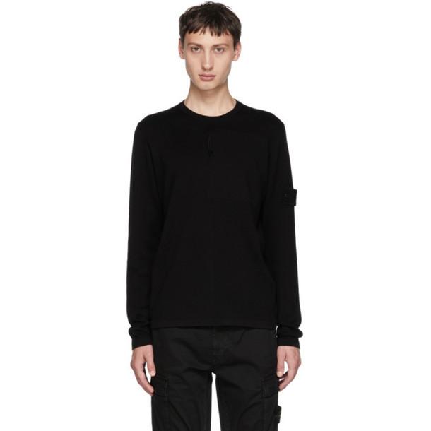 Stone Island Black Ghost Crewneck Sweater