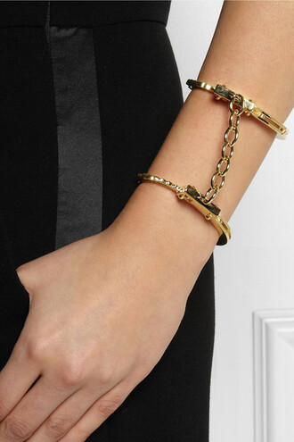 jewels bracelets handcuffs cuff bracelet gold girl fashion