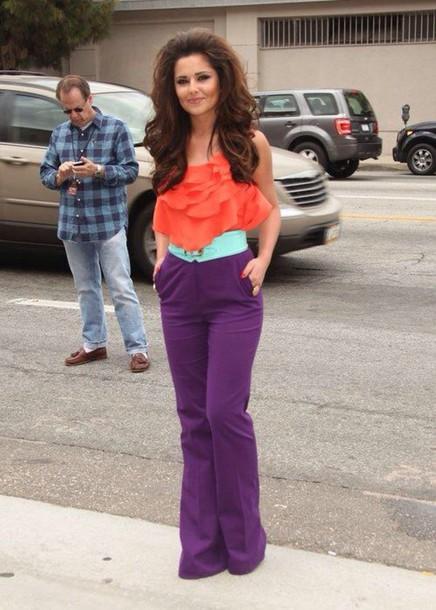 jeans celebrity cheryl cole purple cheryl fernandez