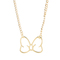 Gold plated minnie mouse bow longer length disney necklace from gogo philip : truffleshuffle.com