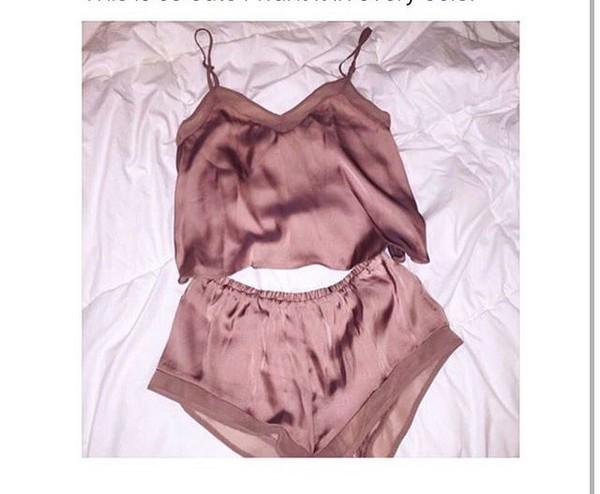 underwear silk pyjama shorts top shorts