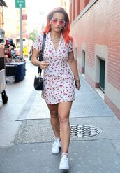 dress,mini dress,summer dress,summer outfits,sneakers,casual,streetstyle,celebrity,rita ora