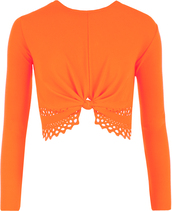 fluorescent orange,clothes,accessories,shirt,top,default category,casual tops
