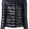 Herno - padded jacket - women - cotton/feather down/polyamide/acetate - 44, black, cotton/feather down/polyamide/acetate