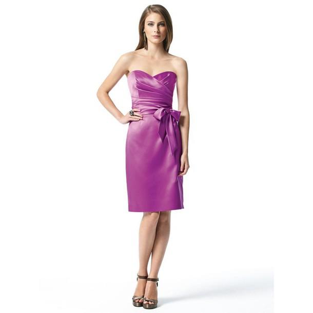 dress bridesmaids ring pink bow dress cute little flowy rosy dessy black dress little black dress