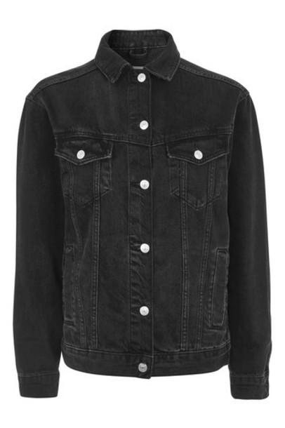 Topshop jacket oversized jacket oversized black