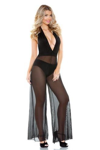 jumpsuit fantasy lingerie black lingerie bikiniluxe