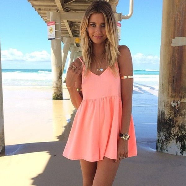 dress coral summer dress summer outfits skater dress swing dress summer coral dress peach