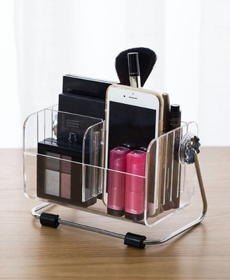 home accessory phone makeup table make-up clear organizer beauty organizer