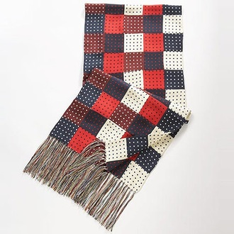 scarf chuck bass checkered