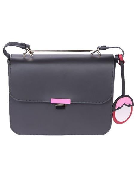 Furla bag shoulder bag leather black
