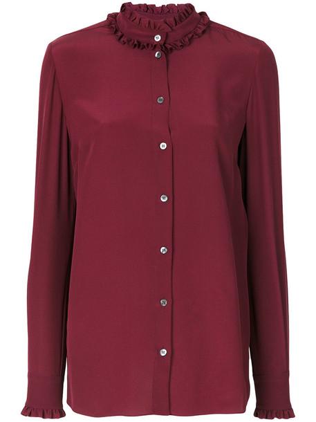 Dolce & Gabbana blouse women silk red top