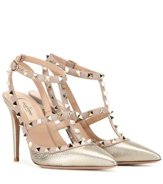 Valentino metallic pumps leather pink shoes