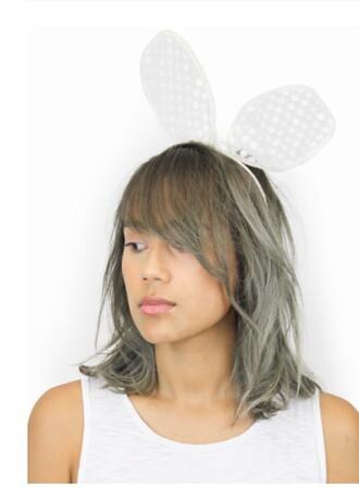 hair accessory headband bunny head band coachella festival