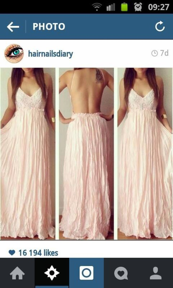 Dress pink dress maxi dress open back dresses maxi