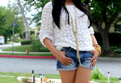 sweater,lace,white