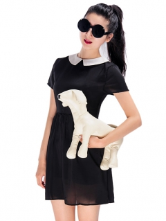 Cute dress with white collar